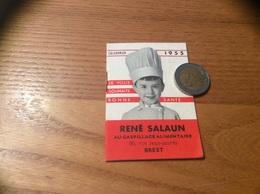 """Calendrier 1955 (livret 16 Pages) """"Codec - RENÉ SALAUN - BREST (29)"""" - Calendriers"""