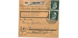 Colis Postal  -  De Albersloh-  Déchirure - Allemagne