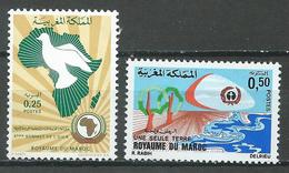 Maroc YT N°640-641 Conférence De L'O.U.A. - Une Seule Terre Neuf ** - Marocco (1956-...)