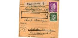 Colis Postal  -  De Luxembourg - 15/1/43 - Cartas