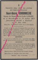 En 1946 Hazebrouck Et Bailleul (59) Henri SCHOONHEERE Ep Marie LEBLEU - Décès
