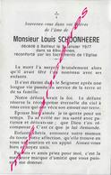En 1977 Bailleul (59) Louis SCHOONHEERE - Décès