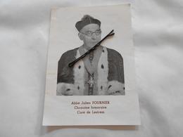 IMAGES PIEUSE L'abbé Julien Fournier Chamoine Et Curé De Lestrem 1961 Lille , Aire Sur La Lys - Images Religieuses
