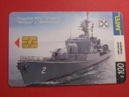 """TC 258a Fragatas ROU """"Uruguay"""" """"Artigas"""" Y """"Montevideo"""" - Uruguay"""