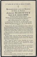 En 1930 Esquelbecq L (59) Anaïs SCHOTTEY Ep Jérémie DEDRIE Tertiaire De St François D'Assise Et Utres Confrériessch - Décès