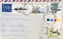 1983 , AUSTRALIA , CORREO AÉREO , RUBYVALE - WESTERLAND , AUSTRALIAN ANTARTIC TERRITORY , BÁSICA - BARCOS, AVES - 1980-89 Elizabeth II