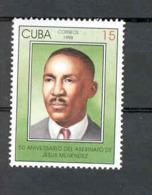 Cuba 1998 Assassination Of Jesus Menendez, 50th Anniversary. MNH. Scott 3895. Value $0.55 - Cuba