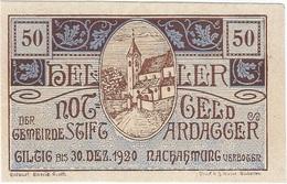 Austria (NOTGELD) 50 Heller 30-12-1920 Ardagger KON 51 A.c.2 UNC - Austria