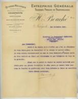 Guerre De 1914-18 . Scierie H. Bouché à Nangis . Relance Suite à Offre Au Service De L'Arrière à Chantilly . 1915 . - France