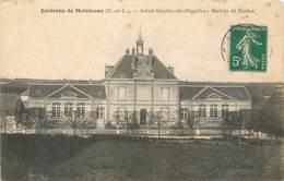 CPA 28 Eure Et Loir Environs De Maintenon Saint St Martin De Nigelles Mairie Et Ecoles - Other Municipalities