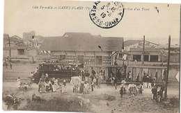 66 Canet Plage 1919 La Gare L'arrivée D'un Tramway Beau Plan Tb Animée éditeur Fau Perpignan Dos Scanné - Canet En Roussillon