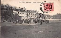 CPA BRA - Piazza Della Rocca E Giardino Pubblico - Cuneo