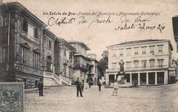 CPA Un Saluto Da Bra - Piazza Del Municipio E Monumento Gottolengo - Cuneo