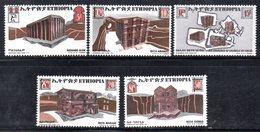 ETP153 - ETIOPIA 1970 ,  Yvert  N. 558/562   *** MNH  CHIESE - Ethiopia