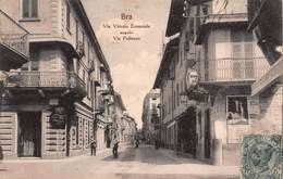CPA BRA - Via Vittorio Emanuele Angolo Via Pollenzo - Cuneo