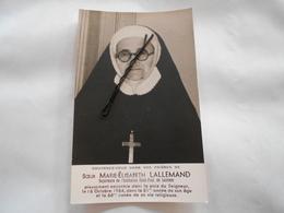 IMAGES PIEUSE Soeur Supérieure De L'institution St Paul De Lestrem (pas-de-calais) Décédé 1964 - Images Religieuses