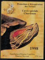 Etiquette De Vin // Chardonne, 1998, Protection Et Récupération Des Tortues - Tartarughe