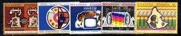ETP165 - ETIOPIA 1971 ,  Yvert  N. 604/608 *** MNH  TELEFONO - Ethiopia