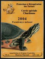 Etiquette De Vin // Chardonne, 2004, Protection Et Récupération Des Tortues - Schildpadden