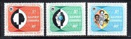 ETP163 - ETIOPIA 1971 ,  Yvert  N. 597/599 *** MNH  RAZZISMO - Ethiopia