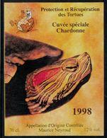 Etiquette De Vin // Chardonne, 1998, Protection Et Récupération Des Tortues - Schildpadden