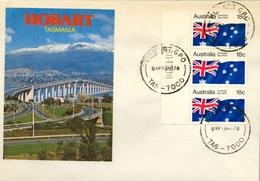 1978 , AUSTRALIA  , HOBART , DIA NACIONAL DE AUSTRALI , BANDERA , FLAG, DRAPEAU , YV. 625 - 1966-79 Elizabeth II