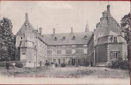 Monceau-sur-Sambre Château CPA Carte Animee Vue De Face RARE 1905 - Charleroi