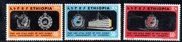 ETP176 - ETIOPIA 1973 ,  Yvert  N. 648/650 *** MNH  INTERPOL - Ethiopia
