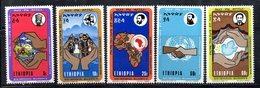 ETP171 - ETIOPIA 1972 ,  Yvert  N. 630/634 *** MNH  SELASSIE - Etiopia