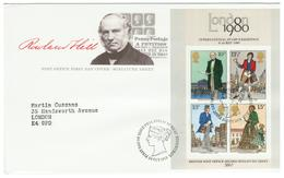 Great Britain / England / Engeland FDC London Stamp Exhibition 1980 With Block - FDC