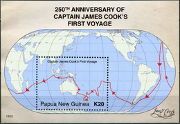 Papua New Guinea 2018. Capt. Cook's First Voyage (MNH OG) Souvenir Sheet - Papua Nuova Guinea