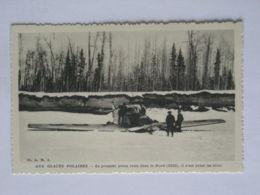 GLACES POLAIRES / AVION Venu Dans Le Nord 1922 , Il S Est Brise Les Ailes - Carte Oeuvre Apostolique Missionnaires - 1919-1938