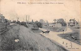 BUEIL - La Gare Et Le Carrefour Des Routes D'Anet Et De Garennes - Francia