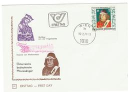 Oostenijk / Austria / Osterreich FDC 1977 Oswald Von Wolkenstein - FDC