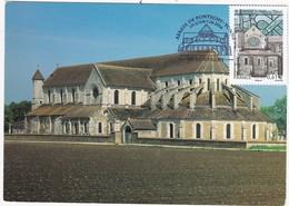 CARTE MAXIMUM: FRANCE: Série Touristique: Abbaye De PONTIGNY 1er Jour 7.06.2014 - Cartas Máxima