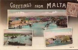 Malta, Greetings From Malta, Divers View        (bon Etat) - Malta