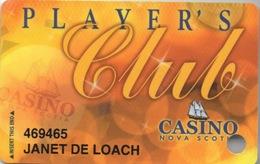 Canada : Carte Casino Player's Club : Casino Nova Scotia (Percée) - Cartes De Casino