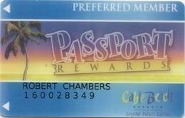 Bahamas : Carte Casino Passport Rewards : Cable Beach Crystal Palace Casino - Cartes De Casino