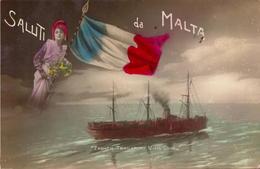 Malta, Saluti Da Malta, French Transport Ving Long         (bon Etat) - Malta