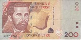 BILLETE DE ALBANIA DE 200 LEKE DEL AÑO 1996  (BANKNOTE) - Albanië