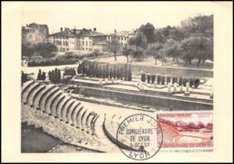 1147/ Carte Maximum (card) France N°1124 Bimillénaire De Lyon 1957 Fourvière Fdc Premier Jour - Cartes-Maximum