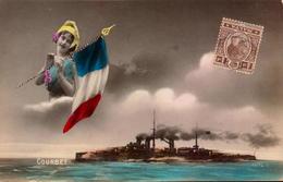 Malta, Marine De Guerre, Courbet        (bon Etat) - Malta