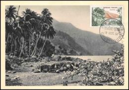 1153/ Carte Maximum (card) France N°1125 Rivière Sens à La Guadeloupe 1957 Fdc Premier Jour - Cartes-Maximum
