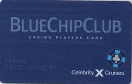 Celebrity Cruises : Casino Players Card : Blue Chip Club - Casinokarten
