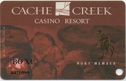 Carte Casino : Cache Creek Casino Resort (Percée) - Cartes De Casino