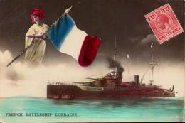 Malta, Marine De Guerre, French Battleship Lorraine       (bon Etat) - Malta