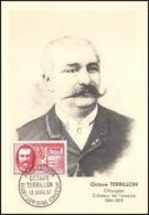 1059/ Carte Maximum (card) France N°1097 Octave Terrillon Chirurgien L'asepsie Medecine Fdc (premier Jour) 1957 - Cartoline Maximum