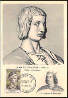 1091/ Carte Maximum (card) France N°1108 Jean De Joinville Champagne Louis 11 1957 Fdc Premier Jour - Cartoline Maximum