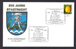 1.- GERMANY 2019 SPECIAL POSTMARK - 200 YEARS OF TOWN PRIVILEGES - MARKTBREIT - Sobres
