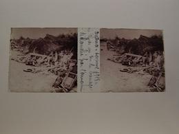Photo Plaque De Verre Stéréoscopique Guerre 14-18 Somme 1918 Après Un Tir De Barrage De L'ennemi - Diapositiva Su Vetro